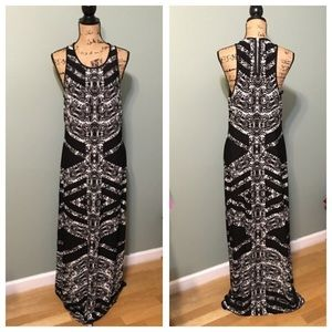 Bisou Bisou Black & White Maxi Dress